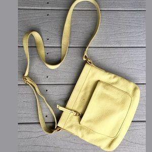 Fossil Pebbled Leather Crossbody/Messenger Bag